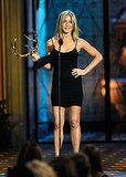 The Friends star hit the stage for Spike TV's 2011 Guys Choice Awards in a slinky black minidress.