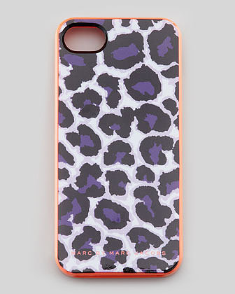 MARC by Marc Jacobs Lenora Leopard-Print iPhone 5 Case, Royal Purple
