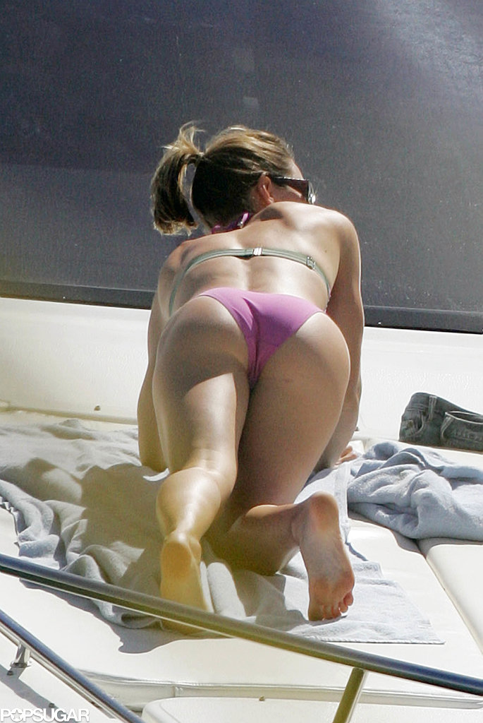 Jessica Biel lounged on a yacht in Puerto Rico in January 2006.