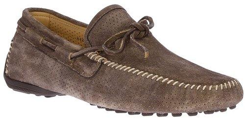 Santoni perforated driving shoe