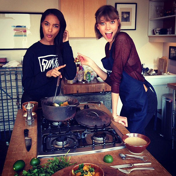 "It was a ""#Jourlie kitchen takeover!"" when these two got busy on the stove. Source: Instagram user"