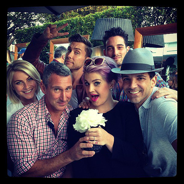 "Kelly Osbourne celebrated Fergie's ""gayby shower,"" with friends including Julianne Hough. Source: Instagram user kellyosbourne"