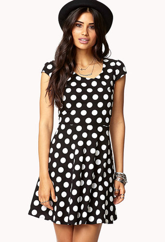 FOREVER 21 Polka Dot A-Line Dress