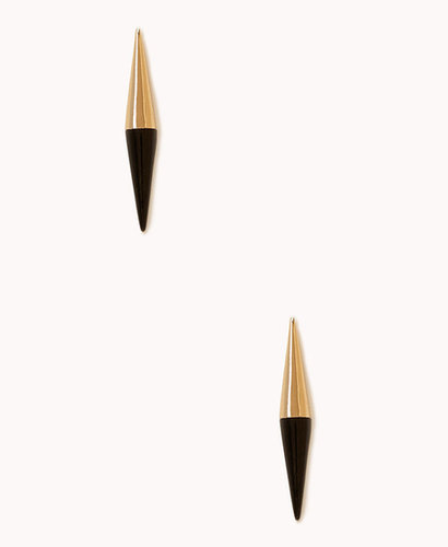 FOREVER 21 Mirrored Colorblock Spike Studs