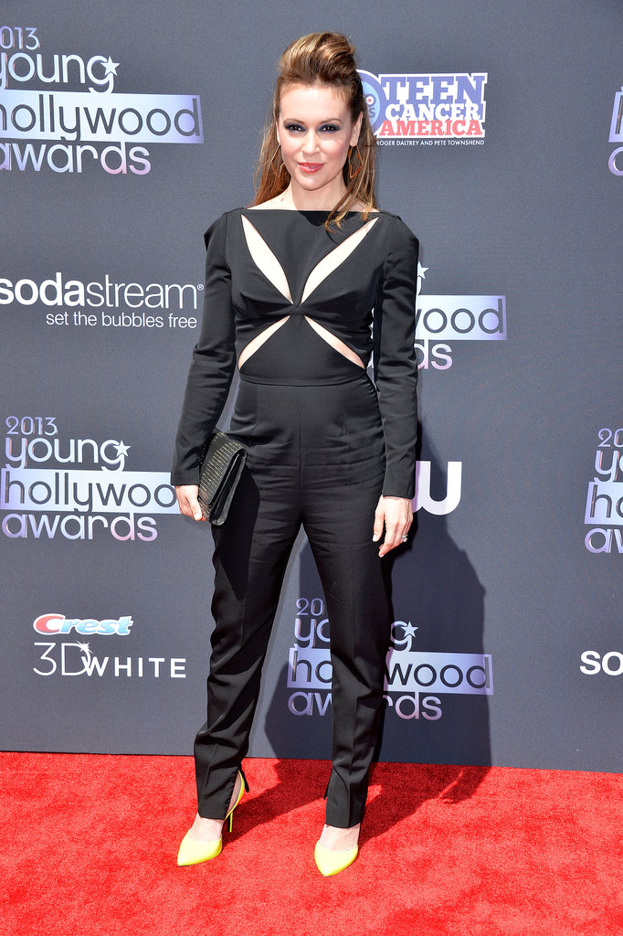 Alyssa Milano presented an award at the Young Hollywood Awards in Santa Monica.