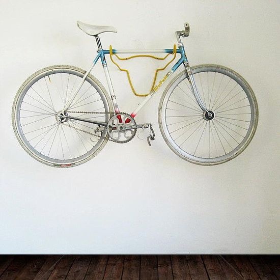 Blur the lines between bicycle storage and wall decor with this bull bike rack ($119-$150).