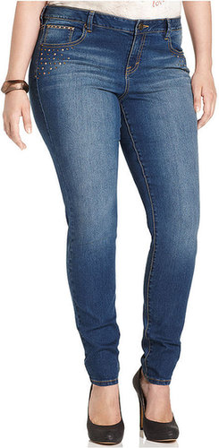 Style&co. s&co. Plus Size Jeans, Amber Remix Skinny, Fine Wash