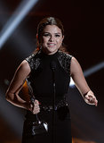 Selena Gomez thanked the crowd when she accepted her award at the Young Hollywood Awards.