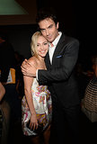Ian Somerhalder gave AnnaSophia Robb a big hug backstage at the Young Hollywood Awards. See all the stars at the Young Hollywood Awards.