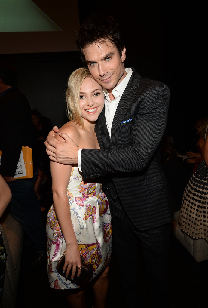 Ian Somerhalder gave AnnaSophia Robb a big hug backstage at the Young Hollywood Awards.