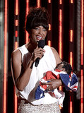 Host Aisha Tyler held a royal baby of her own during the show.
