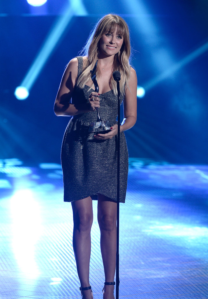 Lauren Conrad received the SodaStream UnBottle the World Award at the Young Hollywood Awards.