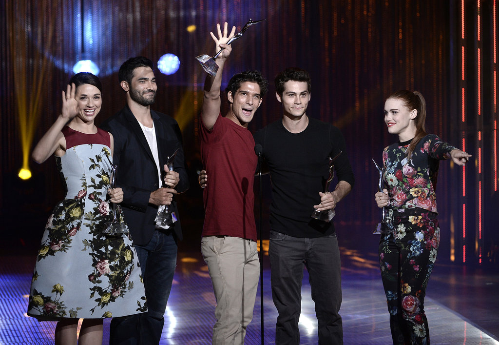 The cast of Teen Wolf received the Best Ensemble Award at the Young Hollywood Awards.