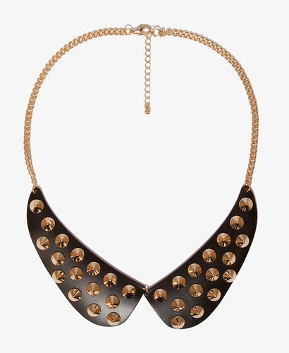FOREVER 21 Peter Pan Collar Spiked Bib Necklace