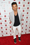 Prabal Gurung arrived for the New York The Butler screening in white denim that he paired with a blazer.