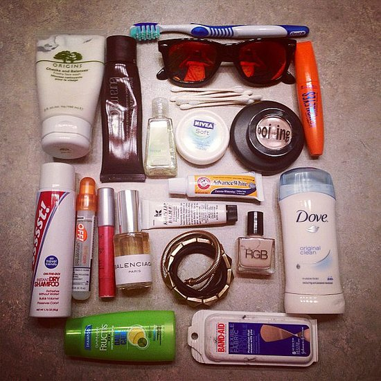 A peek at our packing essentials — note the bug spray and Band-Aids! Source: Instagram user marytom