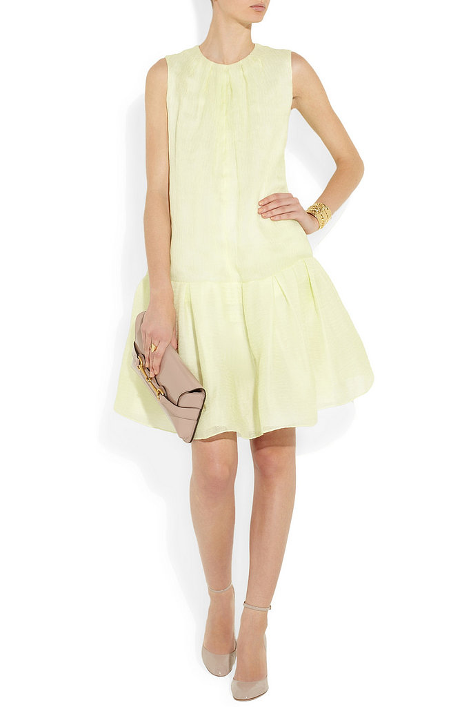 In a refreshing pale lime color and with a quirky drop waist, we'd take this Chloé dress ($2,995) no matter the season.