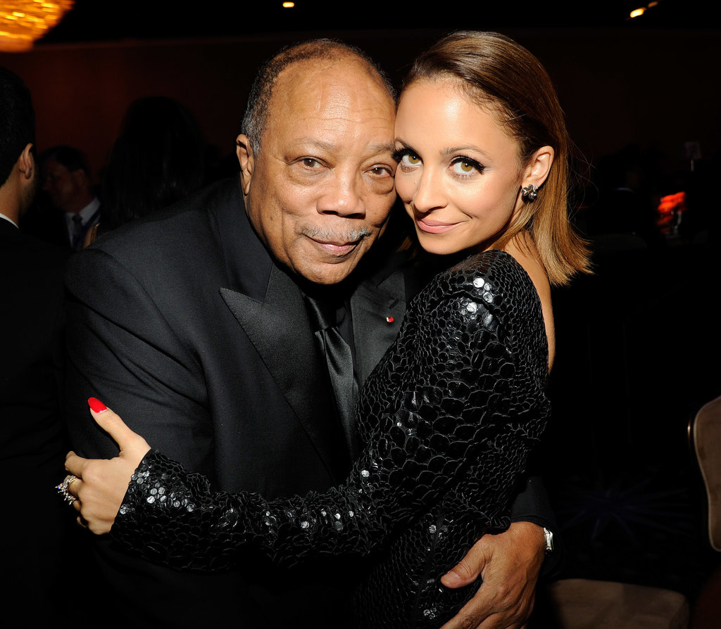 ". . . Quincy Jones! The legendary music producer worked with Nicole's dad, Lionel, on many of his hits throughout the '80s, including ""We Are the World."" Nicole has remained close with Quincy's daughters, Rashida and Kidada, since she was young."