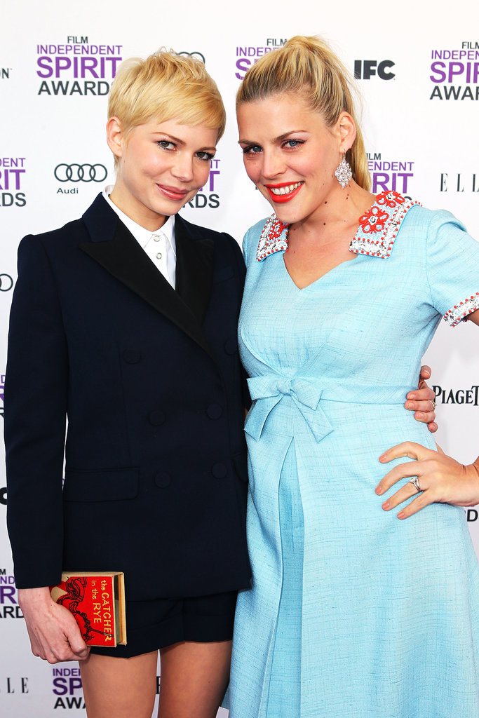 . . . Busy Philipps. Michelle and Busy costarred together on Dawson's Creek and have remained close ever since. Michelle gave her BFF the honor of being godmother to little Matilda, and Busy, who has two daughters of her own, bestowed another actress with the title for her eldest girl, Birdie Silverstein. Can you guess who it is?