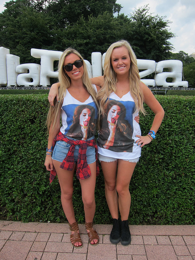 It's clear who Sadee and Austin came to see. Clad in matching Lana Del Rey t-shirts, the two showed that imitation is truly the sincerest form of flattery.