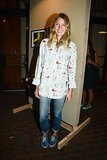 Dree Hemingway looked cool and casual in denim and a printed button-down at the New York Vans bash.