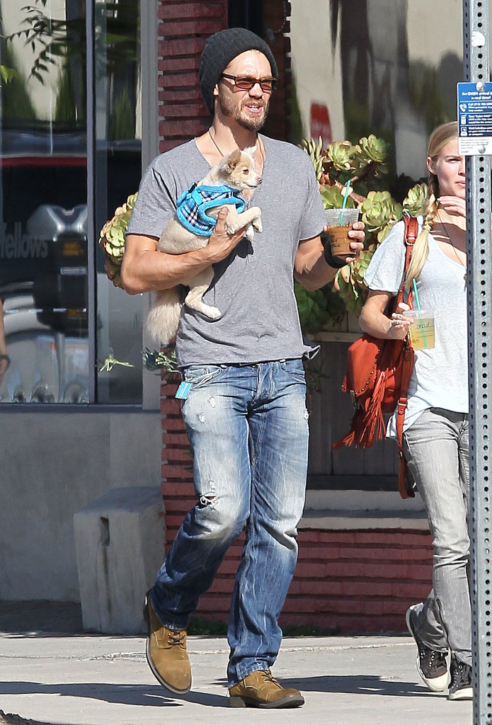 Chad Michael Murray took his small pup out for a walk in Studio City, CA, in August 2013.