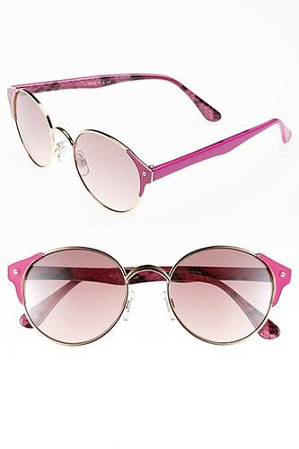 FE NY 'Color Wire' Metal Sunglasses Pink One Size