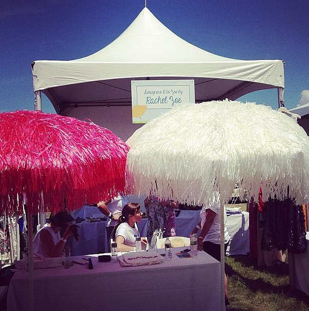 Spotted: Rachel Zoe's booth at Super Saturday.