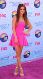 At the 2012 Teen Choice Awards, Selena Gomez wore a hot pink number.