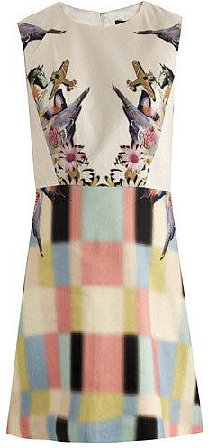 Tibi Eye-spy printed dress