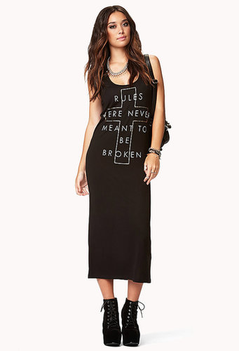 FOREVER 21 Breaking Rules Maxi Dress