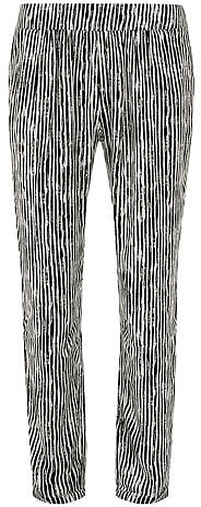 Ivory and black stripe trouser