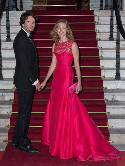 Natalia Vodianova was a vision in red as she hosted the Love Ball in Monaco.
