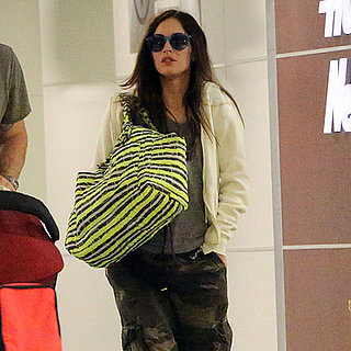 Megan Fox and Brian Austin Green at JFK After Baby News