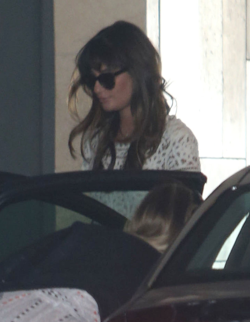 Lea Michele Shows Her Support at Jamie-Lynn Sigler's Baby Shower!