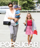 Jennifer Garner took Violet and Samuel to the Natural History Museum in LA.
