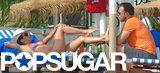 Bikini-clad Eva Longoria relaxed on the beach with Ernesto Arguello in Spain.