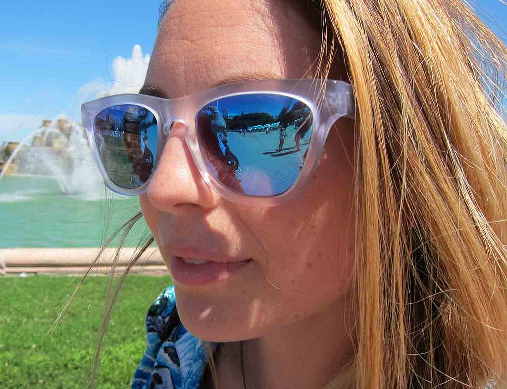 The greens and blues of the lenses in these mirrored sunglasses — by celeb-approved brand Westward Leaning — had us captivated.