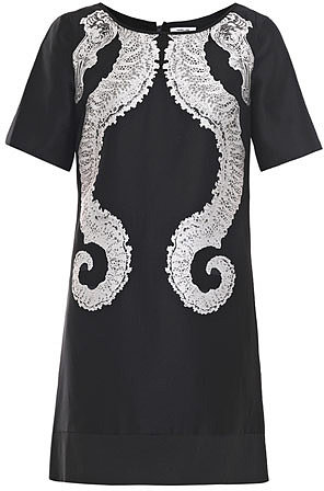 Helmut Lang Seahorse jacquard dress
