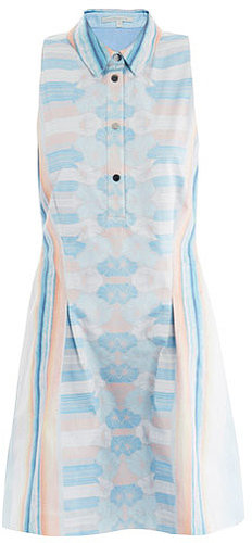 Jonathan Simkhai Mirrored denim print dress