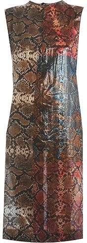 Preen Snakeshell print sleeveless dress