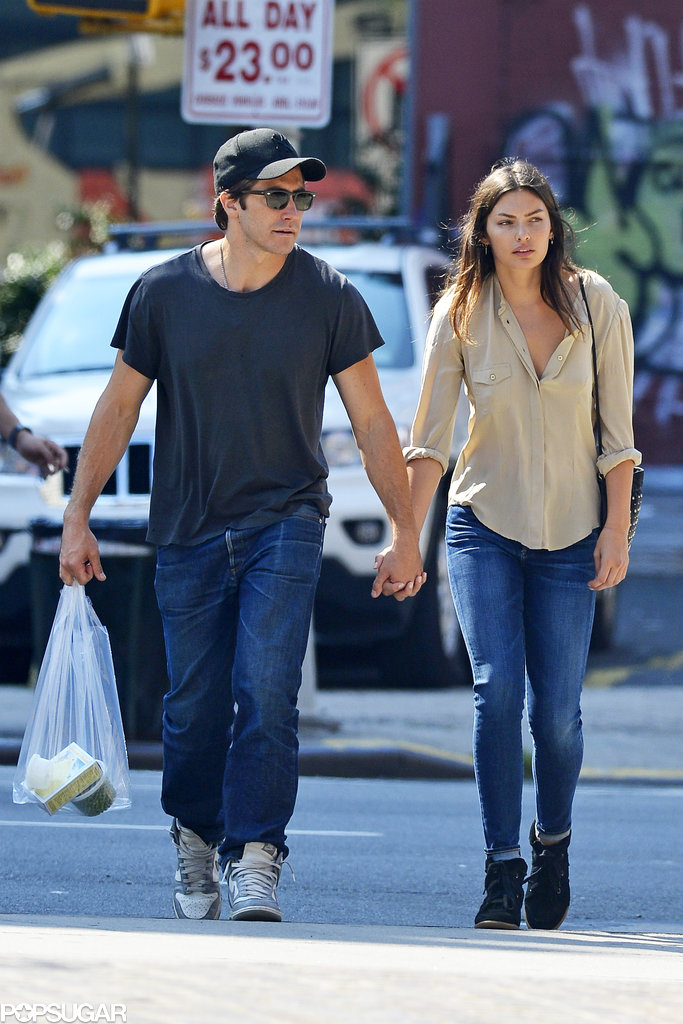 Jake Gyllenhaal held hands with Alyssa Miller during a stroll in NYC.