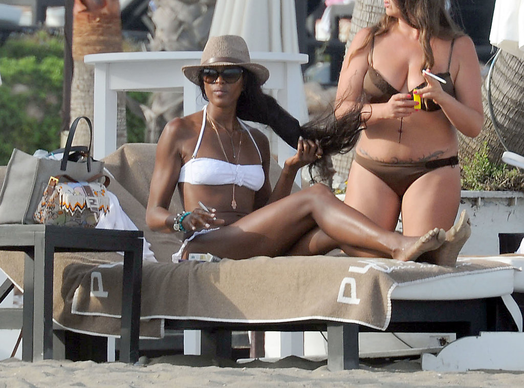 Naomi Campbell Flaunts Her Figure For a Marbella Beach Day