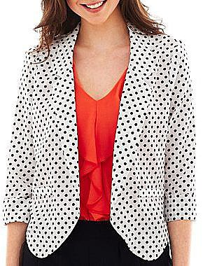 by&by 3/4-Sleeve Print Jacket