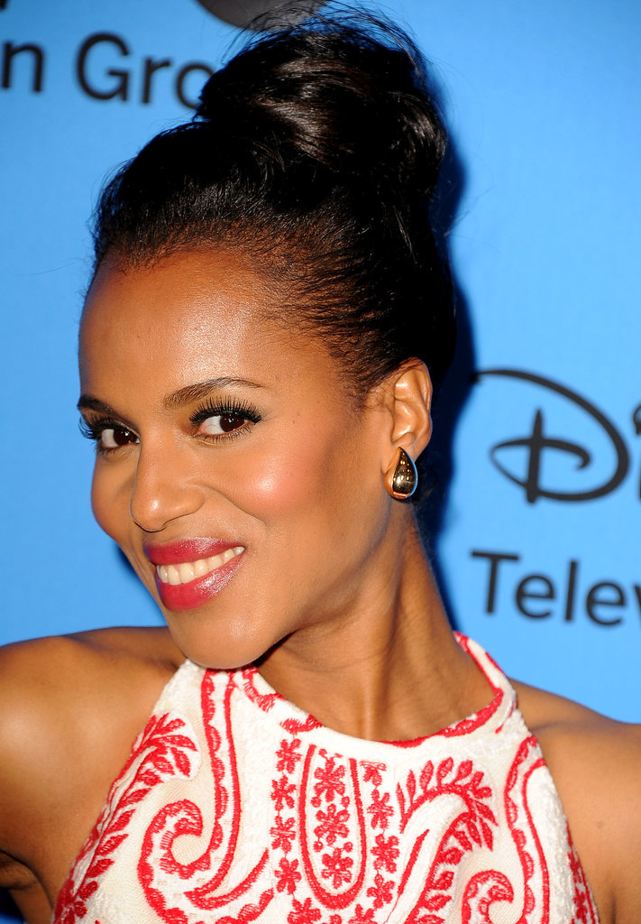 Newlywed Kerry Washington flashed a big smile at the Summer TCA Tour in Beverly Hills.