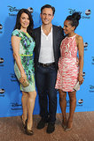 Kerry Washington smiled at her Scandal costars Bellamy Young and Tony Goldwyn.