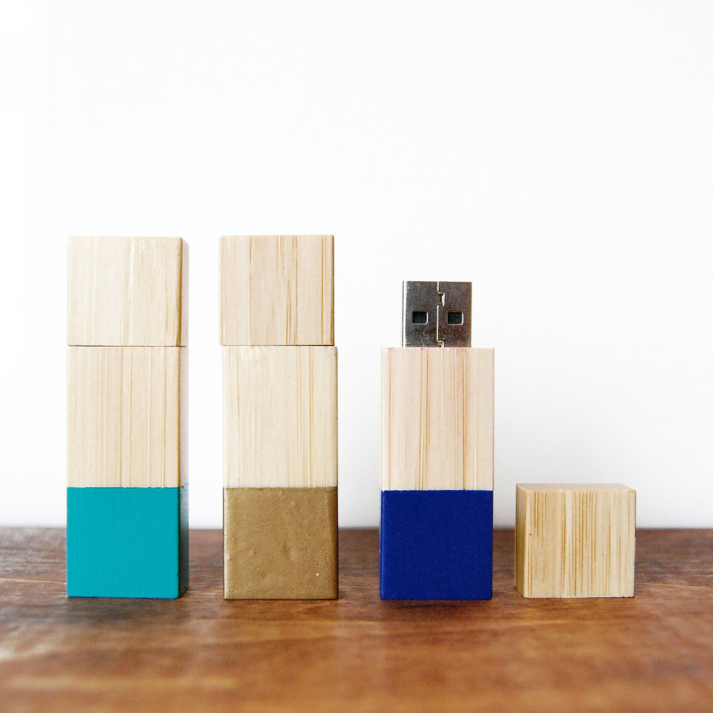 This isn't your average flash drive. Keep files safe with this wooden USB stick ($34) that comes in colorblock for even more style.