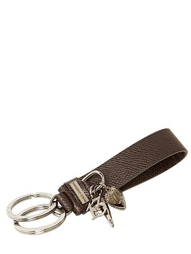 Dauphine Leather Rings Charms Key Holder