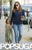 Jennifer Garner held her daughter Seraphina's hand while shopping in LA.