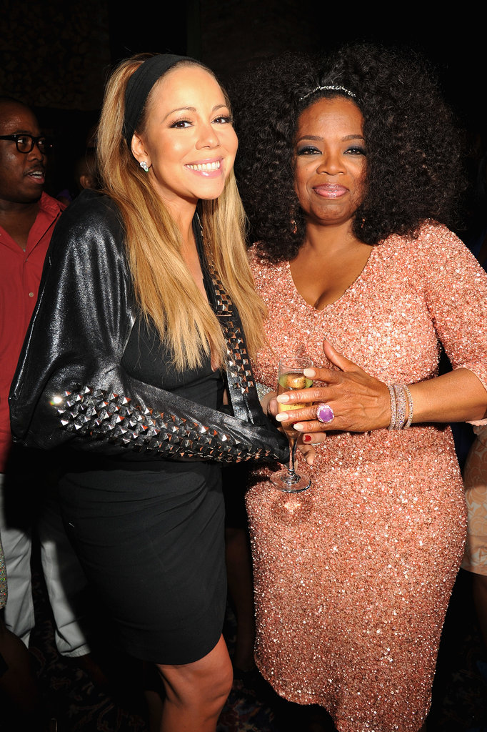 Mariah Carey and Oprah mingled inside the event.